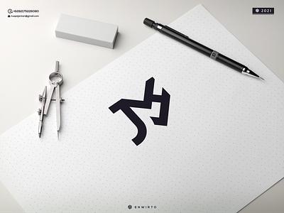 JMH Concept Logo typography app branding minimal logo design logo lettering vector design icon
