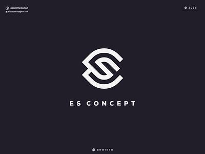 ES Concept Logo Design typography app branding minimal logo design logo lettering vector design icon es