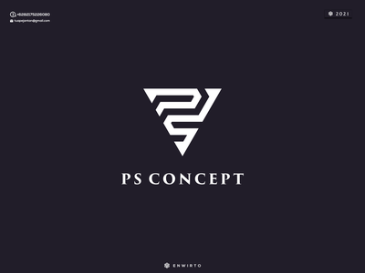 Letter PS Concept Logo animation web typography app branding minimal logo design logo lettering vector design icon ps