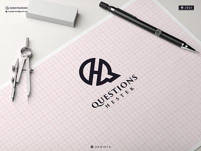 QH Concept Logo typography app branding minimal logo design logo lettering vector design icon qh