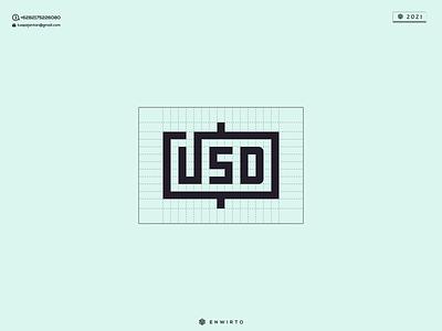 USD Concept Logo typography app branding minimal logo design logo lettering vector design icon usd