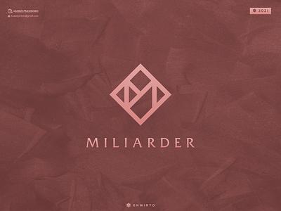 Letter M Concept Logo typography app branding minimal logo design logo lettering vector design icon m