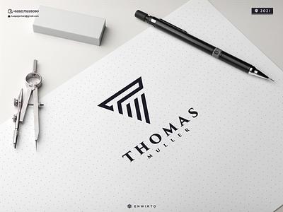 TM Concept Logo typography app branding minimal logo design logo lettering vector design icon tm