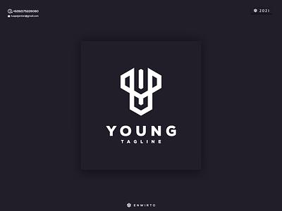 Letter Y Concept Logo web typography branding minimal logo design logo lettering vector design icon y
