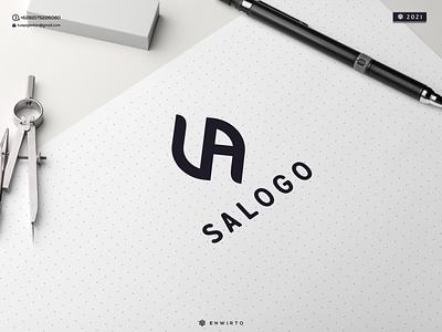 SA LOGO tagline monogram branding illustration minimal logo design logo lettering design icon vector graphic design