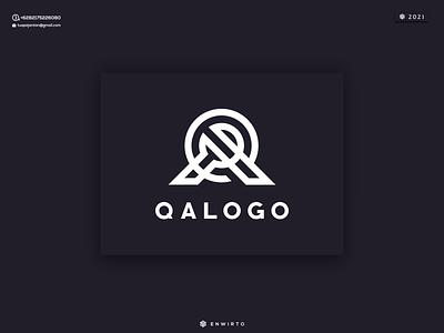 QA Logo letter monogram branding illustration minimal design logo lettering vector design icon logo qa