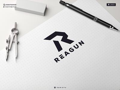 REAGUN LOGO monogram letter branding illustration minimal design logo lettering vector design icon logologos