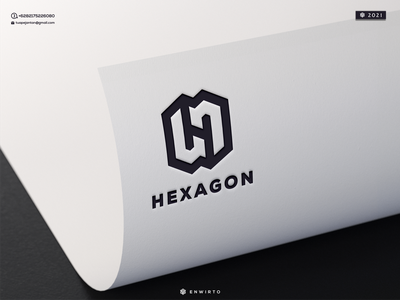 HEXAGON LOGO logos monogram letter illustration minimal design logo lettering vector design icon branding logo motion graphics graphic design animation hexagon