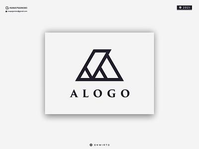 ALOGO monogram letter branding illustration minimal design logo lettering vector design icon logos logo