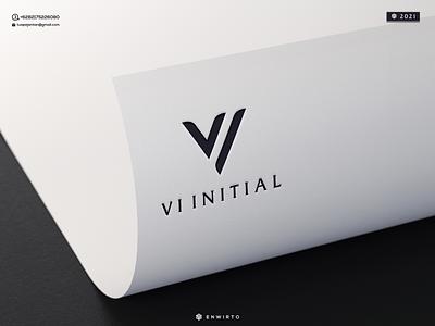 VI INITIAL LOGO branding illustration minimal design logo lettering vector design icon monogram letter logos logoa logo vi