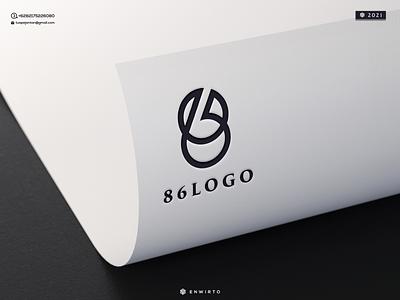 86 Concept Logo branding illustration minimal design logo vector design icon monogram lettering letter logos logo 86