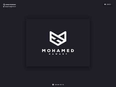 Mohamed Hawary Logo branding illustration minimal design logo vector design icon lettering monongram letter hawary logos logo mohamed