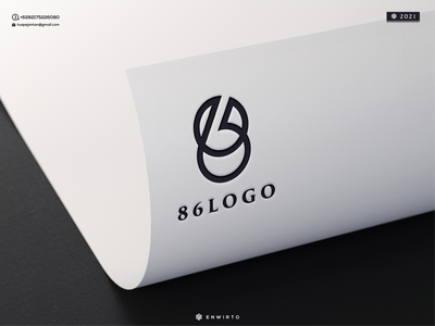 86 logo illustration minimal logo design logo lettering vector design icon 86 branding motion graphics graphic design animation