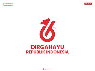 DIRGAHAYU REPUBLIK INDONESIA Logo branding illustration minimal design logo vector design icon lettering garuda letter logos logo dirgahayu republik indonesia