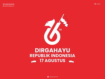 DIRGAHAYU REPUBLIK INDONESIA 17 AGUSTUS branding illustration minimal design logo lettering vector design icon 17 agustus letter logos logo dirgahayu