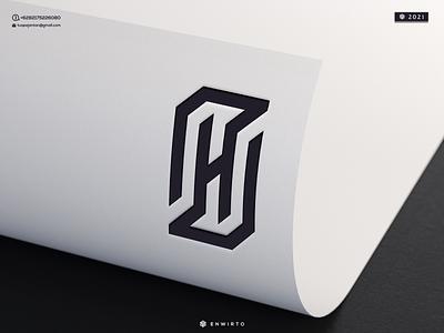 H Monogram Logo branding illustration minimal vector lettering logo design design logo creative icon monogram letter design logos logo h logo