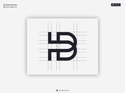 HB Monogram Logo vectors icon design logo hb logo logo design letter momogram creative design logo hb
