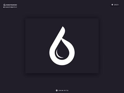 6 Water Logo illustration minimal vector design logo lettering branding icon monogram letter desiner design logos logo water 6 logo