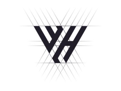 WH Monogram logo design