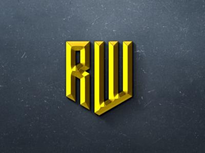RW Monogram logo design