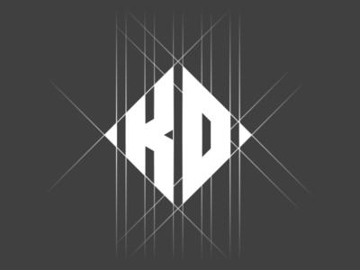 KD Monogram logo design