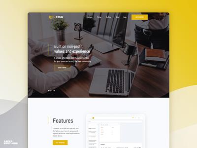 CaseMGR web website ux ui software house software design app