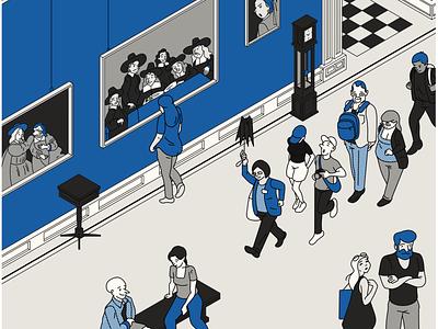 dutch masters dutch masters paintings isometric museum drawing illustrator cartoon illustration