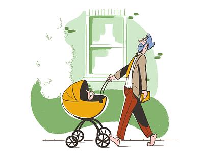 Parenting cartoon illustration parenting