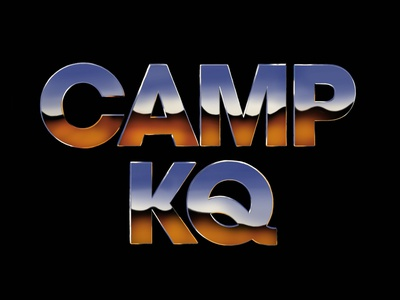 Camp KQ • Chrome Typography type art digital chrome typeface design branding logo illustration typography