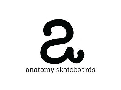 Anatomy Skateboards Logo identity skateboards skateboard design art typography illustration digital vector branding logo