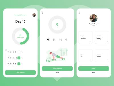 Push ups app concept