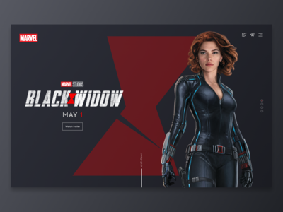 Black Widow Landing Page Concept