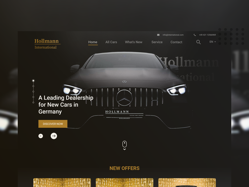 House of Cars website Redesign Concept landing design ui ui design challenge design uidesign ux design adobe xd