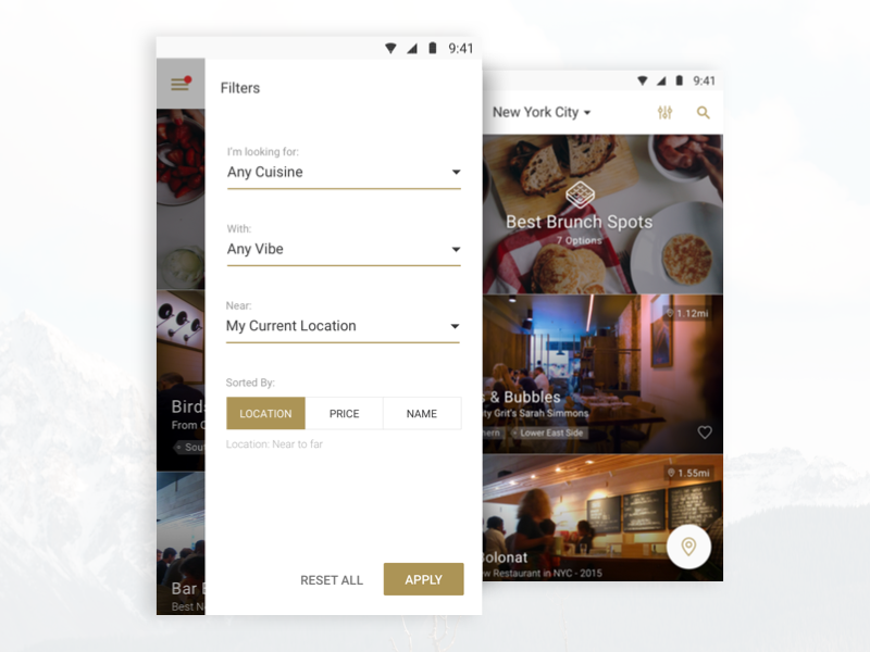 Dribbble android filtering 02
