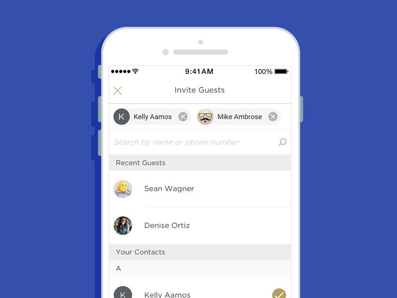 Digital Check Splitting: Send Invites invite dining restaurant contacts payment split check app ios