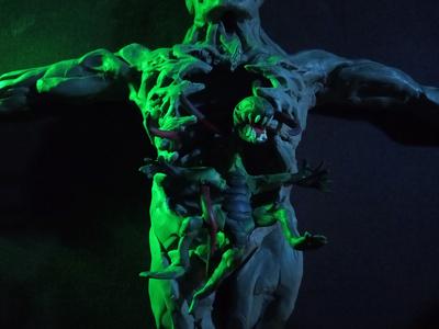 Plasticine Mortal Kombat - Reptile Lizard