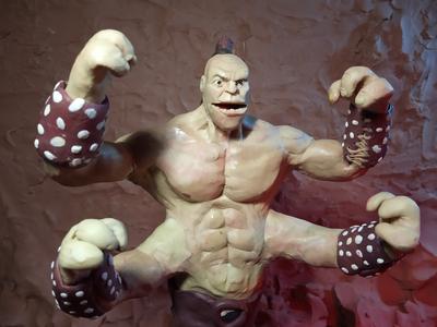 Plasticine Mortal Kombat - Goro