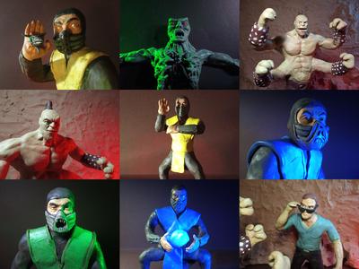 Plasticine Mortal Kombat - Characters