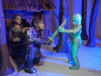 Plasticine Game of Thrones - White Walker vs Sam and Gilly