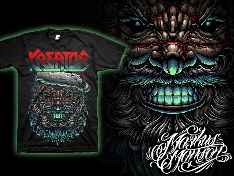 Kreator Santa Is Real dark bloody christmas xmas santa rock metal band merch satan satanic blood band kreator