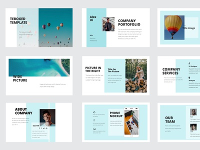 Teboxed The Power Point Templates triangular mock-up background powerpoint design powerpoint template