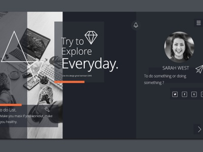 Presentasion templates modern and trendy design modern design cool design ui black powerpoint template
