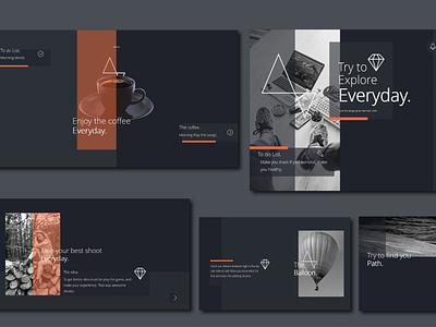 The slides of trendy power point template clean minimal trendy design paper creative black modern cool design powerpoint presentation