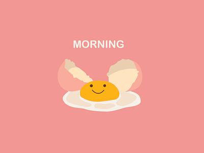 Illustration of broken cute smiling egg character cute wallpaper vector illustration design egg