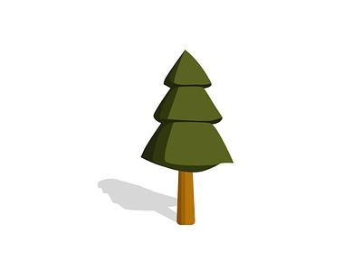 Low Poly Triangle Line Green Fir Tree. Illustration EPS 10 lowpoly illustration jungle nature fir tree