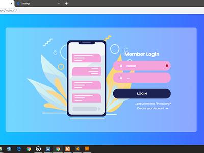 Blue Login Form Website vector html css login page ui  ux website design