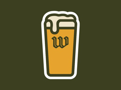 WECO Beer Glass Sticker