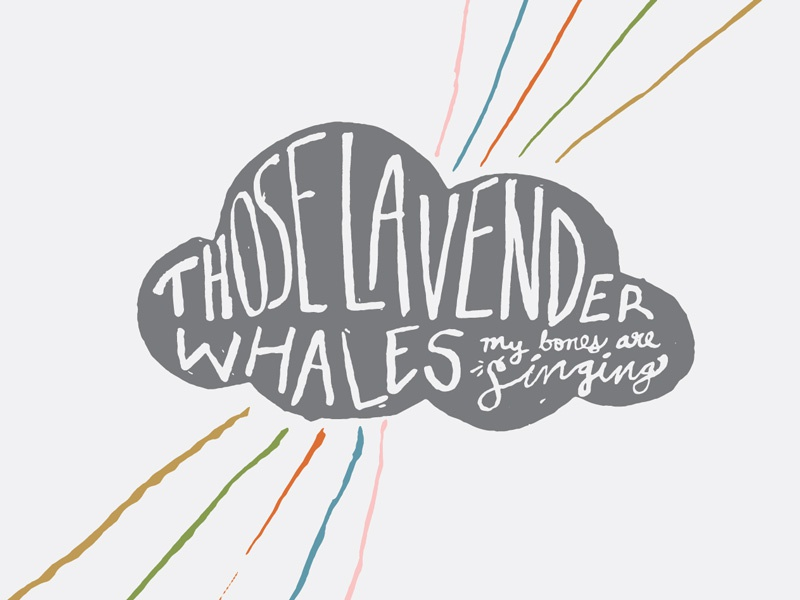 Those Lavender Whales Album Art those lavender whales whales rays gold clouds