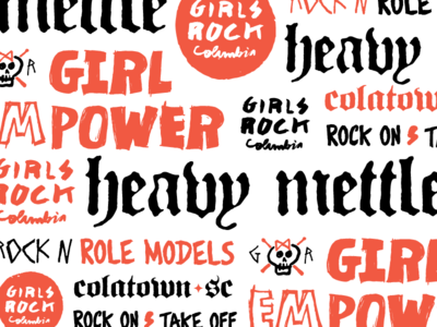 Girls Rock Columbia Typography