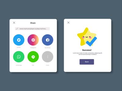 Social share figma ux ui design